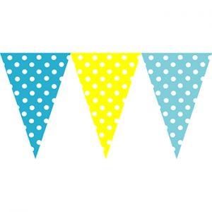 黃水藍圓點串旗