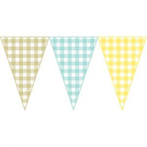 三色格紋串旗