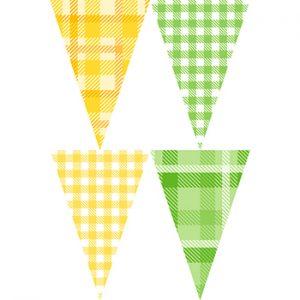 黃綠格紋串旗