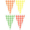 夏日格紋串旗