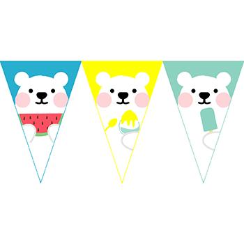 白熊吃冰串旗