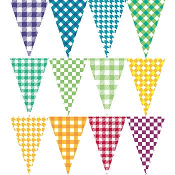 彩色格紋串旗