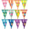 彩色菱格紋串旗
