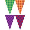 四色格紋串旗