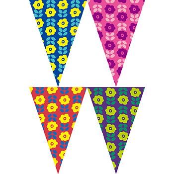 彩色小花串旗