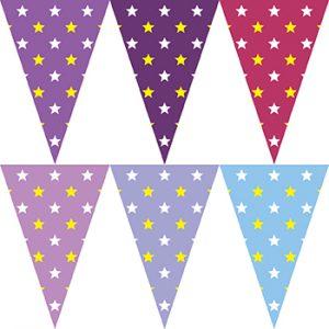 紫色星星串旗