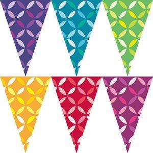 彩色幾何圖形串旗