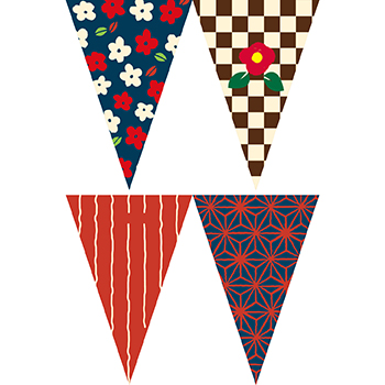 復古風格串旗