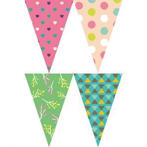 粉綠裝飾串旗